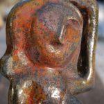 Pièce réalisée pas un élève adulte lors d'un cours de poterie à Autrans
